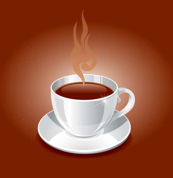 Simple Steaming Cup of Coffee Vector