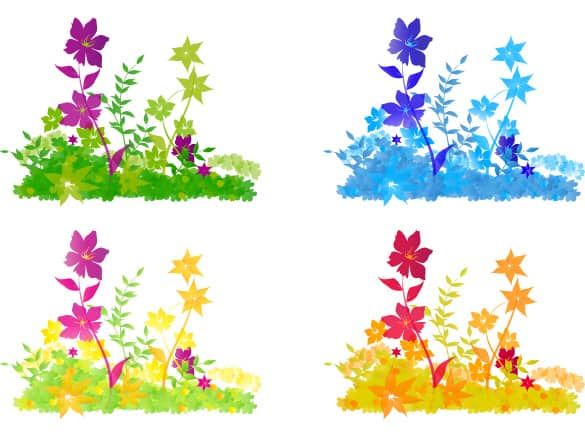 Colorful Flower Patch Vector