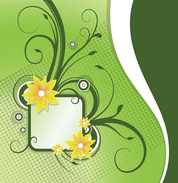 Floral Announcement Vector Banner