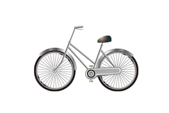 5 Bicycle Vector Clipart