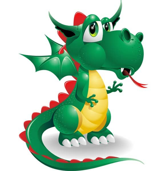 Cute Vector Dragon Animation