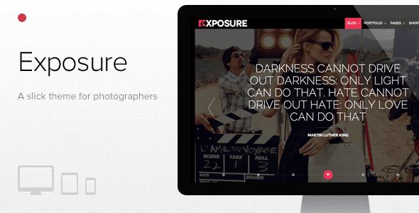 Exposure, Fullscreen Responsive Photography theme