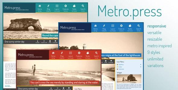 Metro.press - Expressive WordPress Theme