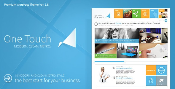 One Touch - Multifunctional Metro Stylish Theme