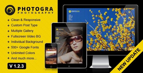 Photogra - Fullscreen Responsive WP Theme