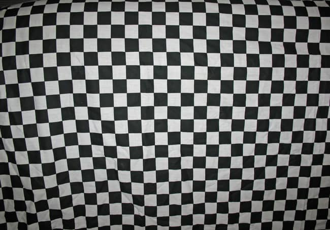 Fabric Texture B + W Checkered
