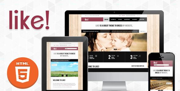 Like Responsive Multipurpose HTML5:CSS3 Theme