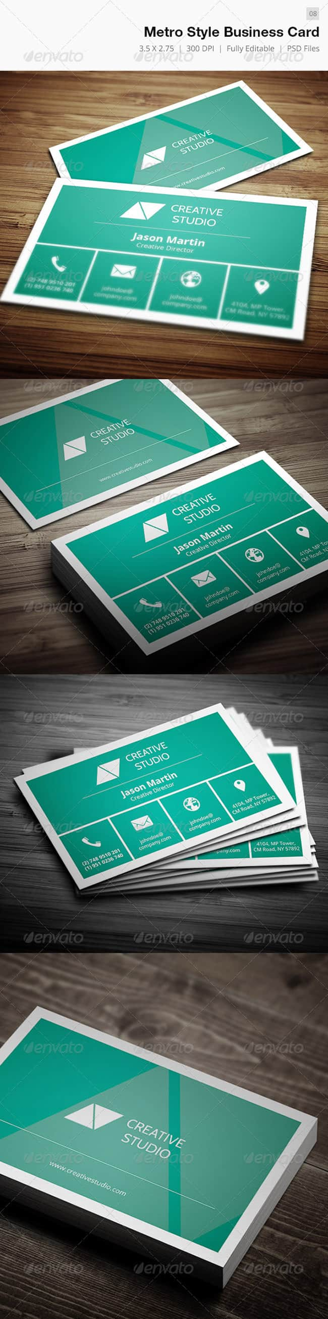 Metro Style Business Card - 08