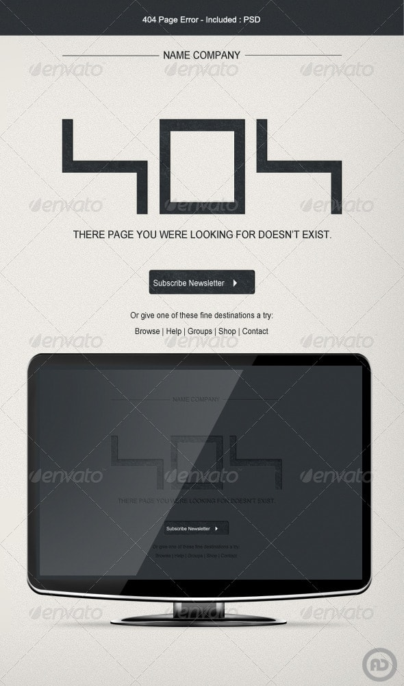 404 Page Error