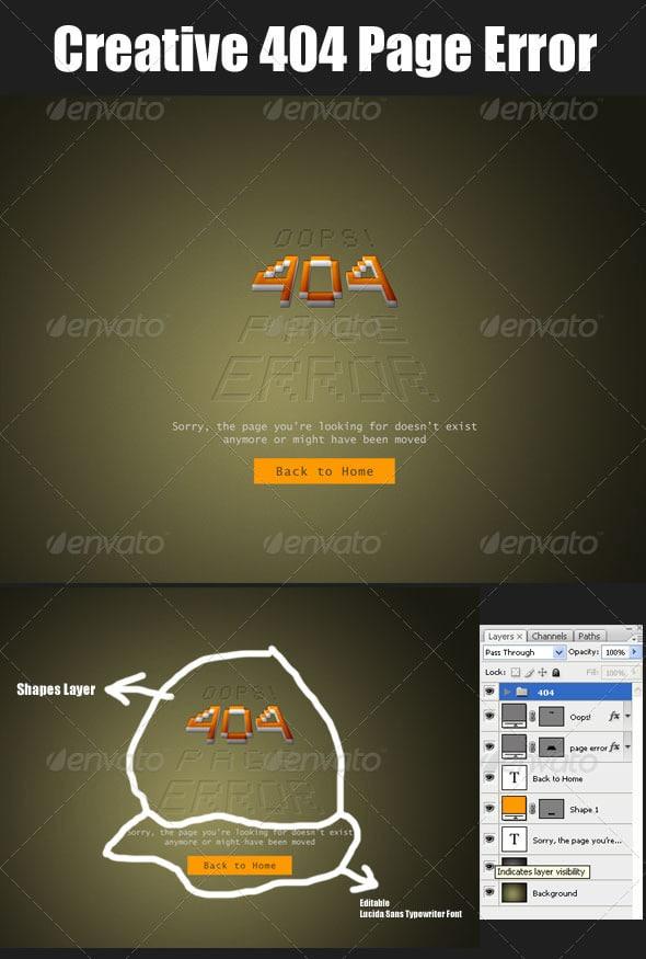 Creative 404 Page Error