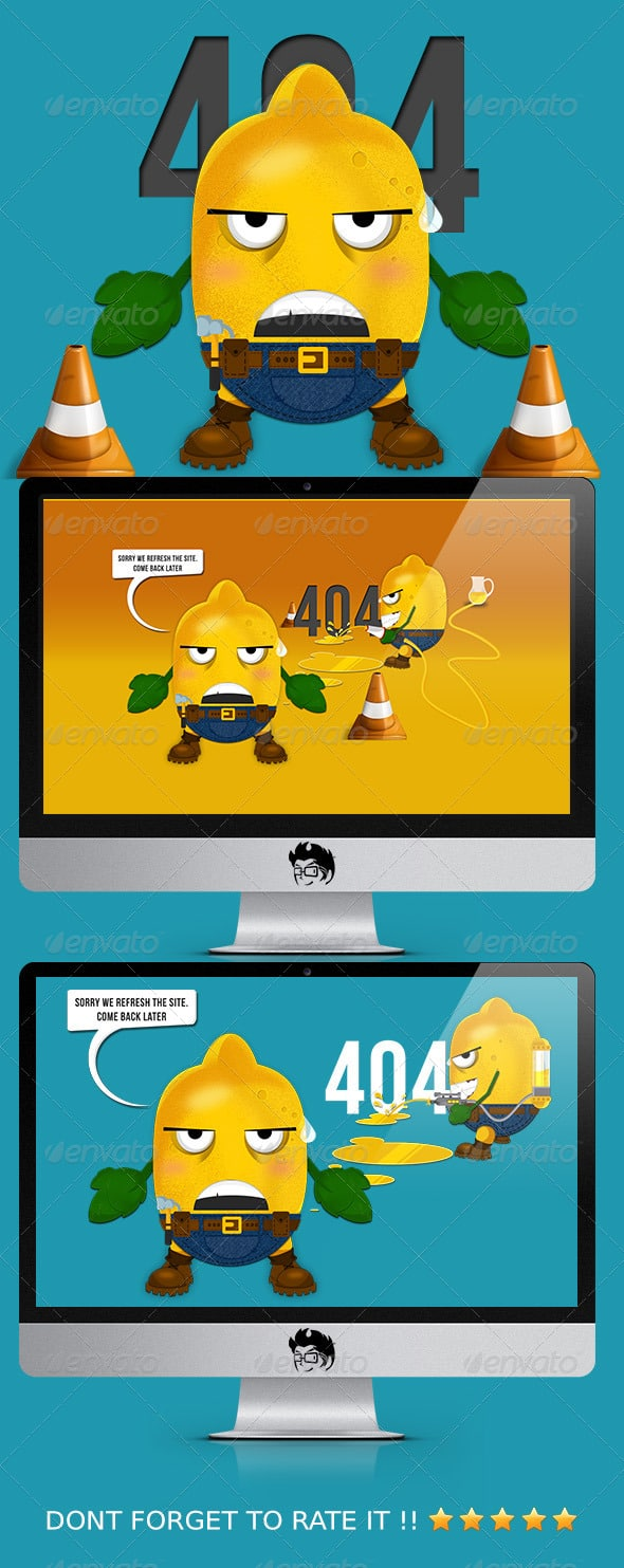 Lemon 404 Error Web Page
