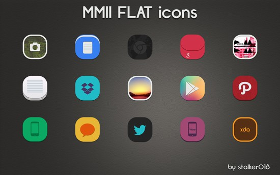 MMII FLAT Icons Preview