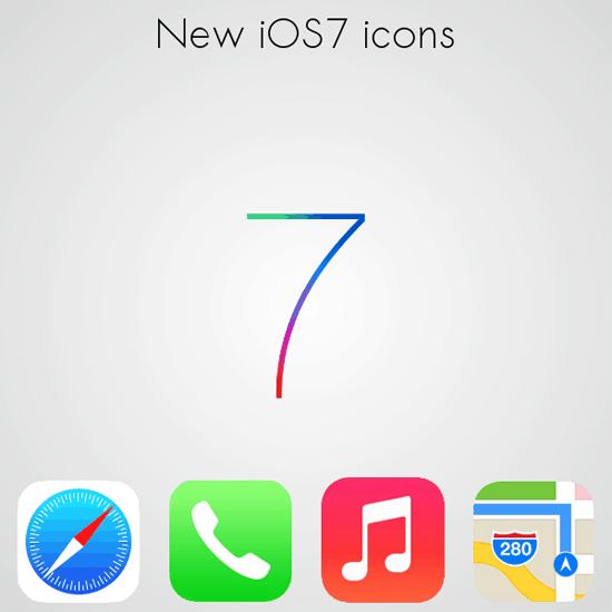 New iOS 7 icons