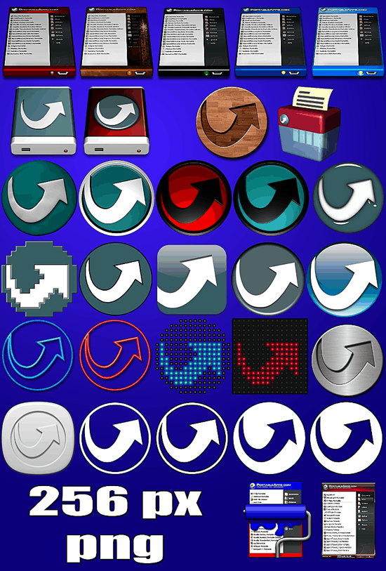 PortableApps.com related Icons