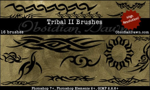 Tribal_2_Photoshop_Brushes_by_redheadstock