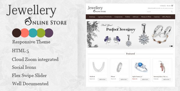 Jewellery Online Store Opencart Theme