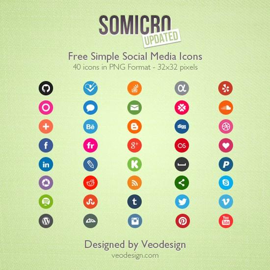 40 Free Social Media Icons