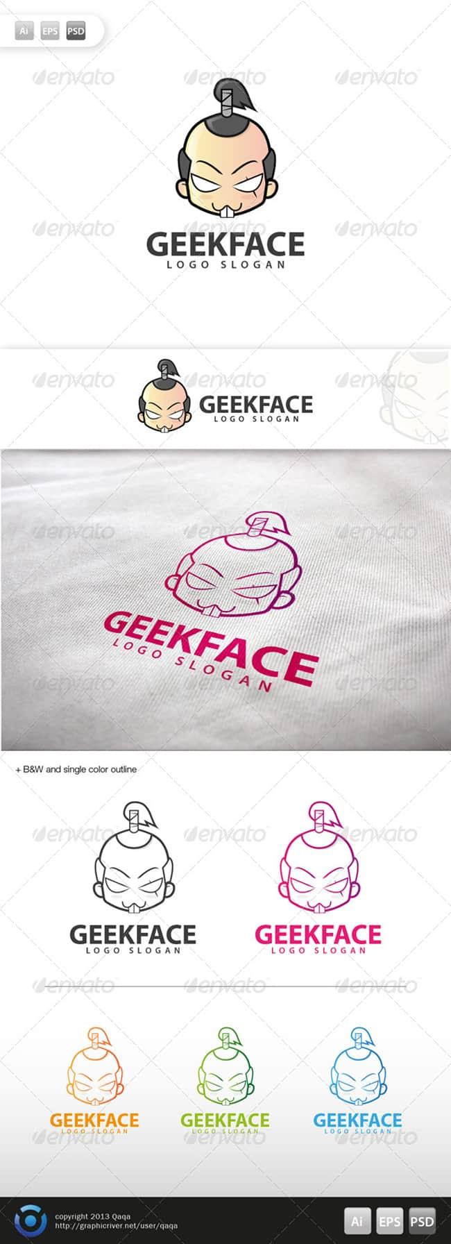 Geek Face Logo
