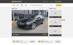 Auto market-vehicle market place template