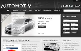 Automotive car dealership theme