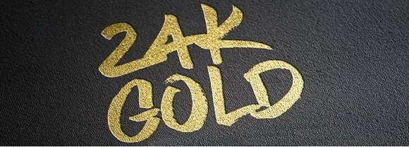 24K photoshop gold style
