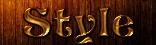 Gold Metal Text Effect
