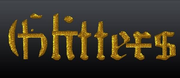 Glitter Layer Golden Style