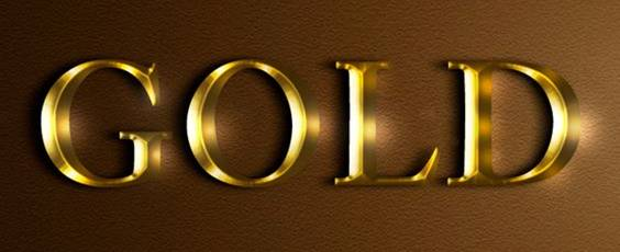 Gold Text effect For Photoshop