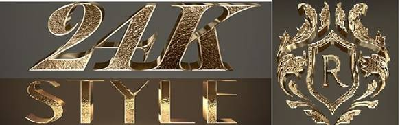 3D Gold Text Styles.