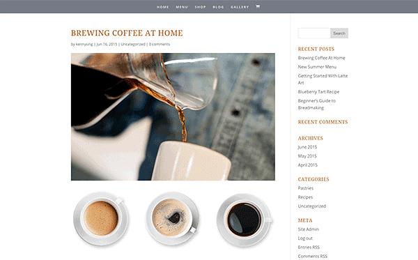Divi theme blogging