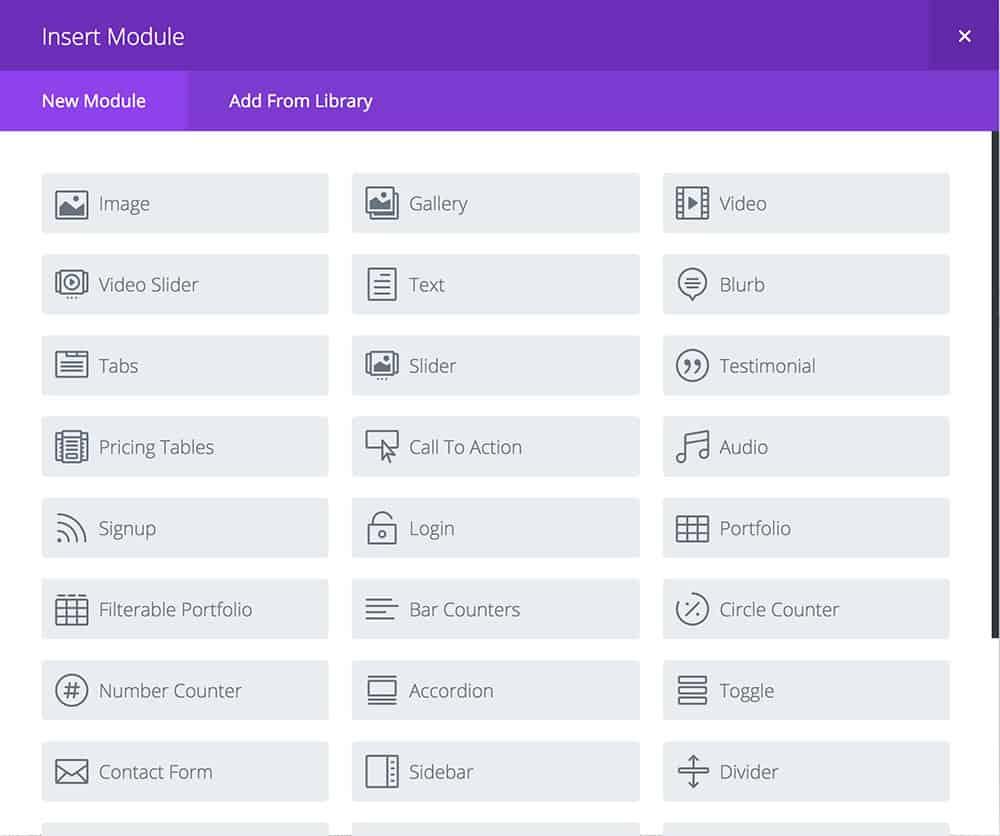 Divi theme modules