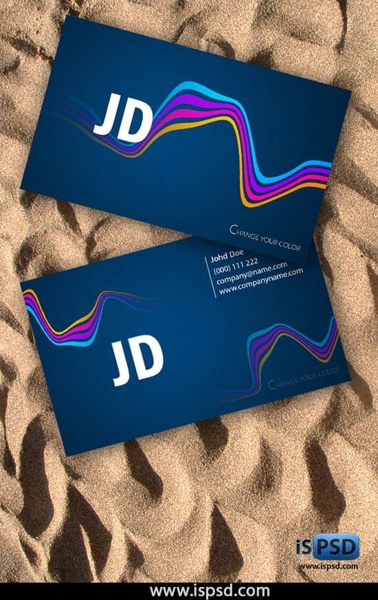 wavy-business-card