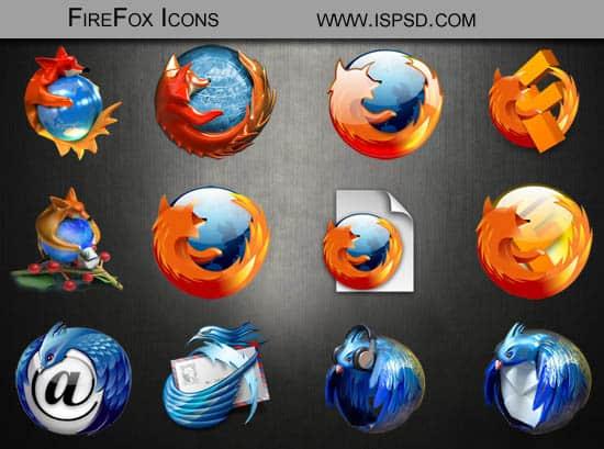 Firefox Icons PSD