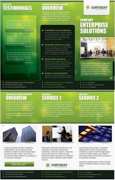 Business Brochure Green  PSD