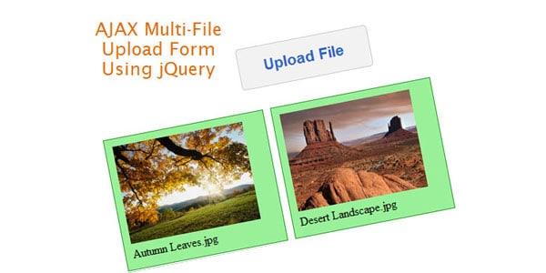 AJAX Multiple File Upload Form