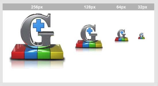 Google + 3D Icons