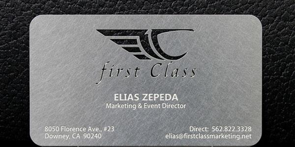 Marketing Metal business card design