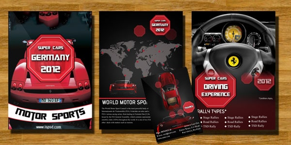 Bi-Fold Automobile Brochures  PSD