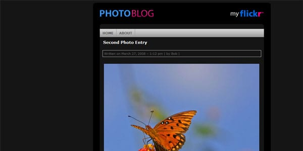 photoblog website template