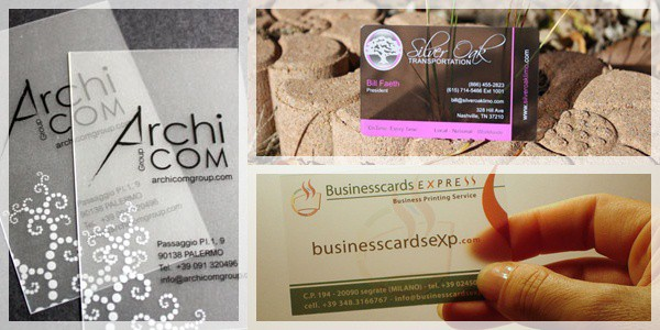 transparent business card designs
