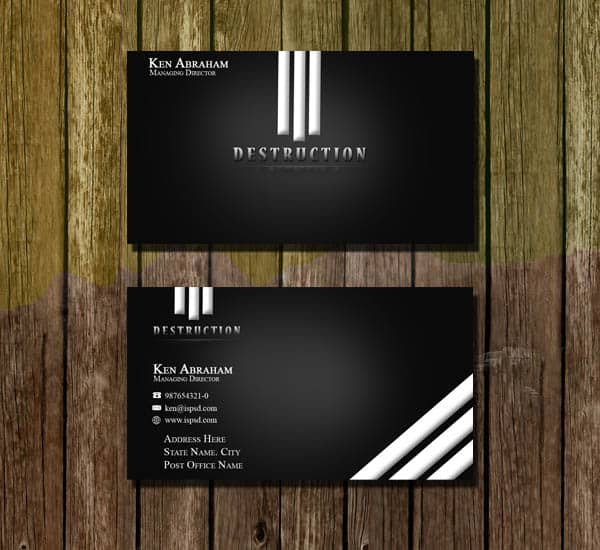 wholesale business card psd