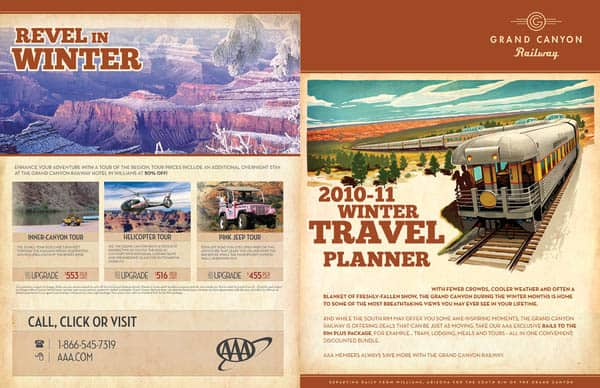 Bi-fold Winter Travel Brochure