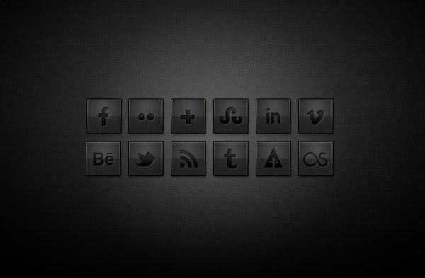 Free Dark Social Media Icons
