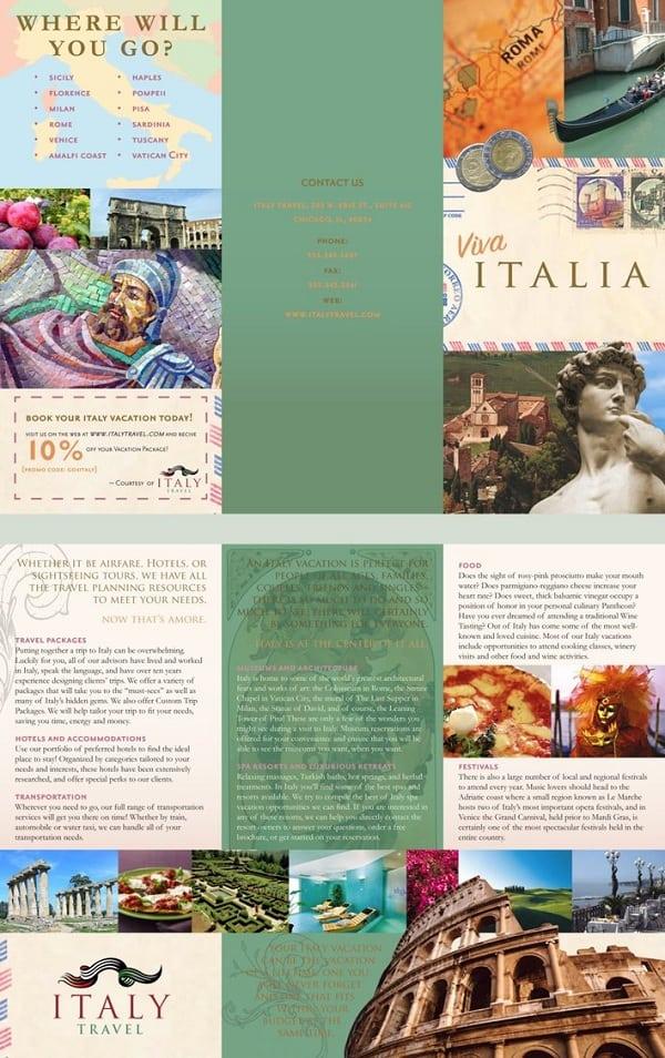 Graphic Art Travel Brochure