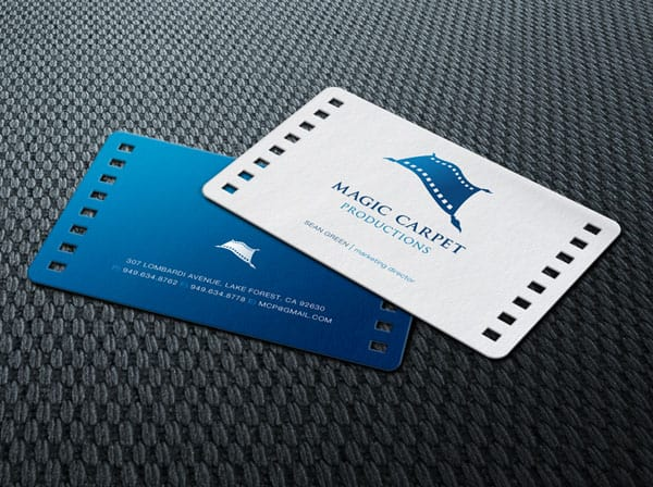 Magic Carpet Productions Business Cards