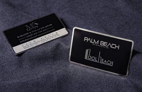 Metal Card Palm Beach