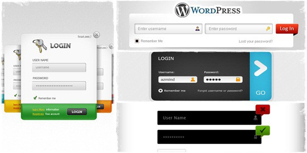 30 Free PSD Login Page Templates
