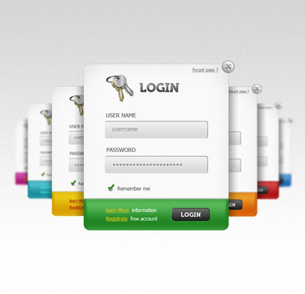 login panels