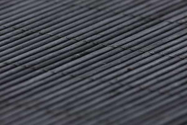 Black bamboo table runner