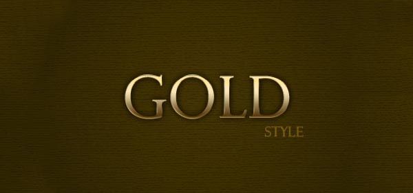 Gold text style by CorouD